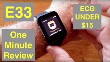 """BAKEEY E33 Featured """"Apple Watch Sized"""" ECG IP67 Waterproof Smartwatch for $15: One Minute Overview"""