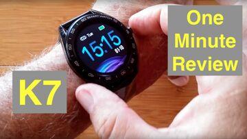 SENBONO K7 IP68 Waterproof Carbon Fiber Backed Blood Pressure Sports Smartwatch: One Minute Overview