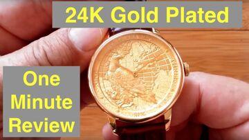 CHIYODA 24K Gold Plated Men's High Fashion Swiss Quartz Waterproof Wrist Watch: One Minute Review