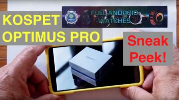 """KOSPET OPTIMUS PRO Sneak Peek of Official Marketing Video from """"Full Android Watches"""""""