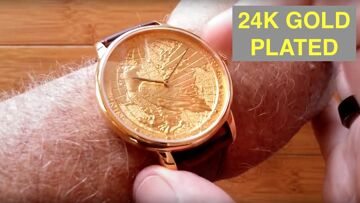 CHIYODA 24K Gold Plated Men's High Fashion Swiss Quartz Waterproof Wrist Watch: Unboxing & Review