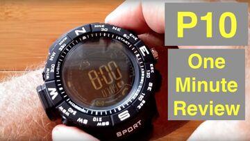 iOutdoor P10 Rugged IP68 5ATM Waterproof Smartwatch: One Minute Review