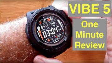 ZEBLAZE VIBE 5 Ruggedized IP67 Waterproof Multi Sport Color Screen Smart Watch: One Minute Overview