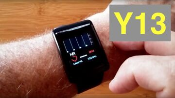 MAXTOP Y13 Large Display Blood Pressure Fitness Smartwatch includes extra Band: Unboxing & 1st Look