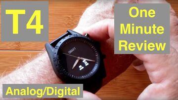 Toleda T4 Hybrid Analog/Digital 5ATM Waterproof Blood Pressure Dress Smartwatch: One Minute Overview