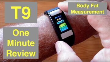 ALFAWISE T9 Body Fat Fitness Tracker Smart Sports Bracelet: One Minute Overview