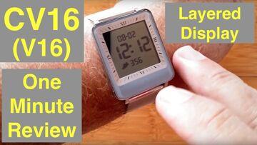 CV16 (V16) Dual LCD/IPS Screen 3ATM Waterproof Blood Pressure Smart Bracelet: One Minute Overview