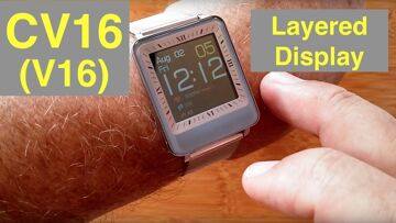 CV16 (V16) Dual LCD/IPS Screen 3ATM Waterproof Blood Pressure Smart Bracelet: Unboxing and 1st Look