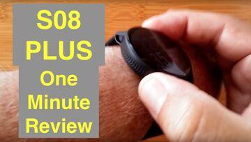 SENBONO S08 PLUS IP68 Waterproof Blood Pressure Sports Smartwatch: One Minute Overview