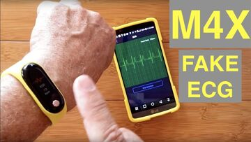 BAKEEY M4X Fitness Band with FAKE ECG, Poor Construction, Defective Charging System: DO NOT BUY