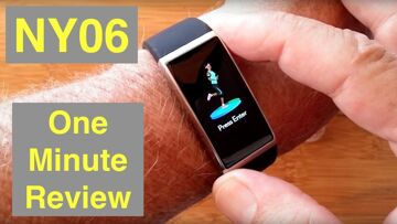 RUNDOING NY06 IP68 Waterproof Continuous Heart Rate/Blood Pressure Smartwatch: One Minute Overview