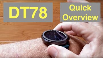 DTNo.1 DT78 IP68 Waterproof Full Touch Blood Pressure Health Fitness Smartwatch: Quick Overview