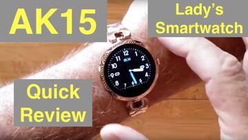 BAKEEY AK15 Women's Dress Fashion Fitness/Health Blood Pressure Smartwatch: Quick Overview