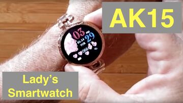 BAKEEY AK15 Women's Dress Fashion Fitness/Health Blood Pressure Smartwatch: Unboxing and 1st Look