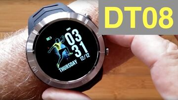 DTNo.1 DT08 IP68 Waterproof Altitude Compass PPG+HRV Sports Smartwatch: Unboxing and 1st Look