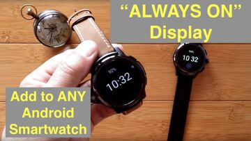"""Add """"Always On"""" Digital Watch Display to ANY Android Smartwatch: Demo GENESIS and PRIME (AWATCH GT)"""