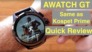 AllCall AWATCH GT 4G Android 7.1.1 Dual Camera IP67 3GB/32GB Waterproof Smartwatch: Quick Overview