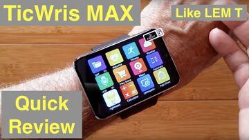 TICWRIS MAX (Like LEMFO LEM T) 2.86 Screen 2880mAh 8MP Camera 4G 3G+32G Smartwatch: Quick Overview
