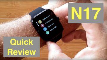 RUNDOING N17 Ultra-Thin Multi-Sport Blood Pressure IP68 Smartwatch: One Minute Overview