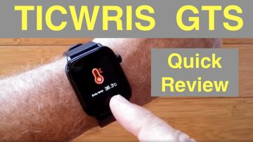 TICWRIS GTS IP68 Waterproof Sports Fitness Smartwatch with Body Temperature Alarm: Quick Overview