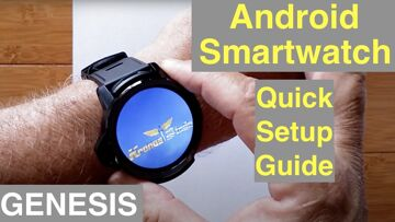 Android Smartwatch Initial Setup Guide (with Factory Data Reset) featuring the Kronos Blade GENESIS