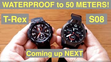 COMING UP NEXT!  Newest Top Tier Smartwatches Waterproof to 50 Meters – Amazfit T-Rex and ROLLME S08
