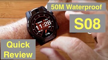 "ROLLME S08 1.69"" TFT Screen 1360mAh 8MP Cameras 3G+32G IP68 Waterproof 4G Smartwatch: Quick Overview"