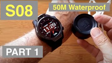 "ROLLME S08 1.69"" TFT Screen 1360mAh 8MP Cams 3G+32G IP68 Waterproof 4G Smartwatch: Unbox & 1st Look"