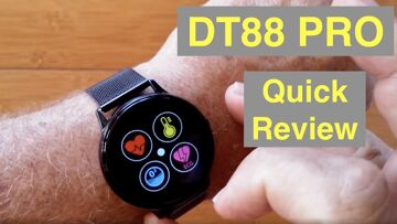 DTNo.1 DT88 Pro IP67 Waterproof Full Touch Blood Pressure Health Fitness Smartwatch: Quick Overview