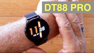 DTNo.1 DT88 Pro IP67 Waterproof Blood Pressure Health Fitness Smartwatch: Unboxing & 1st Look