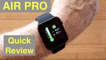 LEMONDA AIR PRO Temperature Blood Pressure IP67 Waterproof Health Smartwatch: Quick Overview