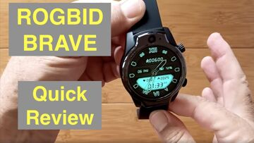 "ROGBID BRAVE 1.69"" TFT Screen 1360mAh 8MP Cams 3G+32G IP68 Waterproof 4G Smartwatch: Quick Review"