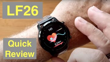 LEMFO LF26 Full Touch 360*360 HD Amoled IP67 Waterproof BT 5.0 Smartwatch: Quick Overview