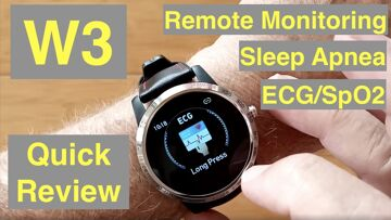 Bakeey W3 Smartwatch with ALL THIS: ECG/Pulse/BP/HRV/Sleep Apnea/SpO2/More: Quick Overview
