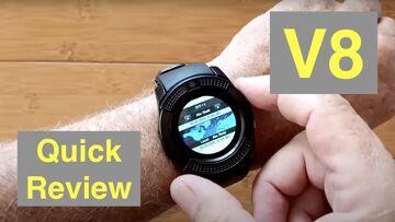 LEEHUR V8 Dual Mode Bluetooth/SIM Calling Camera TF/microSD Under $10 Smartwatch: Quick Overview