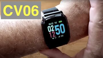 Bakeey CV06 1st EVER! Actual 24 Hr IR Temp Measure (like at Airport) Smartwatch: Unboxing & 1st Look