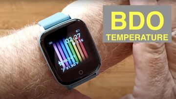 BDO Real Time 24/7 Body Temperature Degrees C or F Health Smartwatch: Unboxing and 1st Look