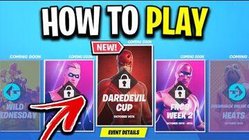 Fortnite, Daredevil, Epic Games, Battle royale game How To Play The 'DareDevil' Cup In Fortnite! (Free Skin + $1,000,000 Prizepool)