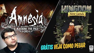 Epic Games, Amnesia: A Machine for Pigs, Kingdom, Amnesia: The Dark Descent, The Chinese Room, Frictional Games Jogos Grátis até 22/10/2020 12:00AM: Amnesia: A Machine for Pigs e Kingdom New Lands