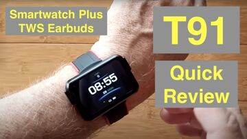 Bakeey T91 Health/Fitness Blood Pressure Smartwatch with integrated TWS Earbuds: Quick Overview
