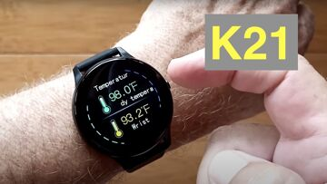 FINOW K21 Body Temp Blood Pressure IP67 Waterproof Health Fitness Smartwatch: Unboxing and 1st Look