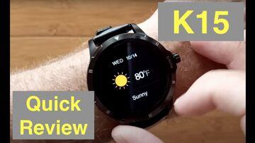 FINOW K15 Body Temperature Blood Pressure Health Fitness Smartwatch: Quick Overview