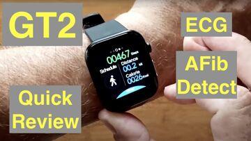 FINOW GT2 Apple Shaped Smartwatch ALL THIS: ECG/Pulse/BP/HRV/Sleep Apnea/SpO2/More: Quick Overview