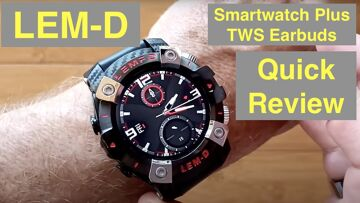 LEMFO LEM-D Health/Fitness Blood Pressure Smartwatch with integrated TWS Earbuds: Quick Overview