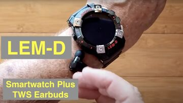 LEMFO LEM-D Health/Fitness Blood Pressure Smartwatch with integrated TWS Earbuds: Unbox & 1st Look