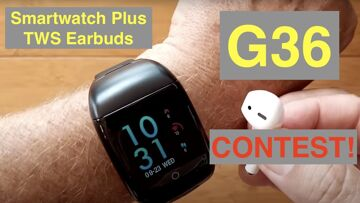 CONTEST:  FINOW G36 Health/Fitness Smartwatch with TWS Earbuds: Unboxing and 1st Look