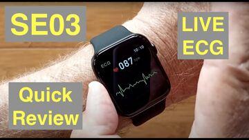 CYUC SE03 Apple Watch Shaped IP68 Waterproof ECG+PPG Blood Pressure Smartwatch: Quick Overview