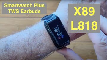 Bakeey X89(L818) Health/Fitness Blood Pressure Smartwatch & integrated TWS Earbuds: Unbox & 1st Look
