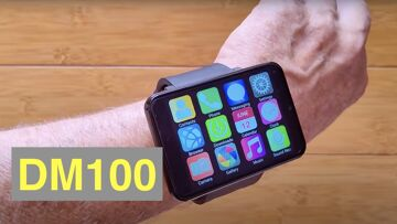 DM100 (like LEM T/MAX) 2.86 Screen 2880mAh 8MP Camera 4G 3G+32G Smartwatch: Unboxing and 1st Look