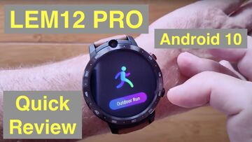 LEMFO LEM12 PRO Android 10 MT6762 Dual Cameras 4GB/64GB Face Unlock 4G Smartwatch: Quick Overview